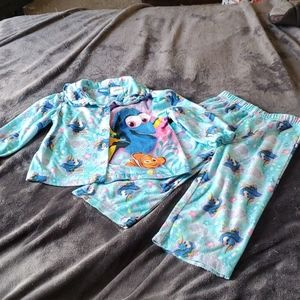 Finding Dory 2pc button up pj set